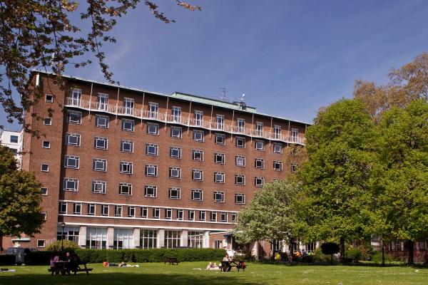 The accommodation building from the outside at Charterhouse Square
